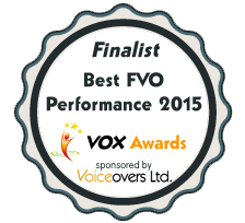 Best Female Voiceover 2015 finalist logo