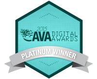 AVA digital award platinum winner logo