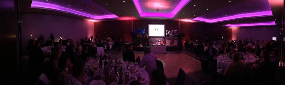 panorama of the evening at vox events uk british voice over awards