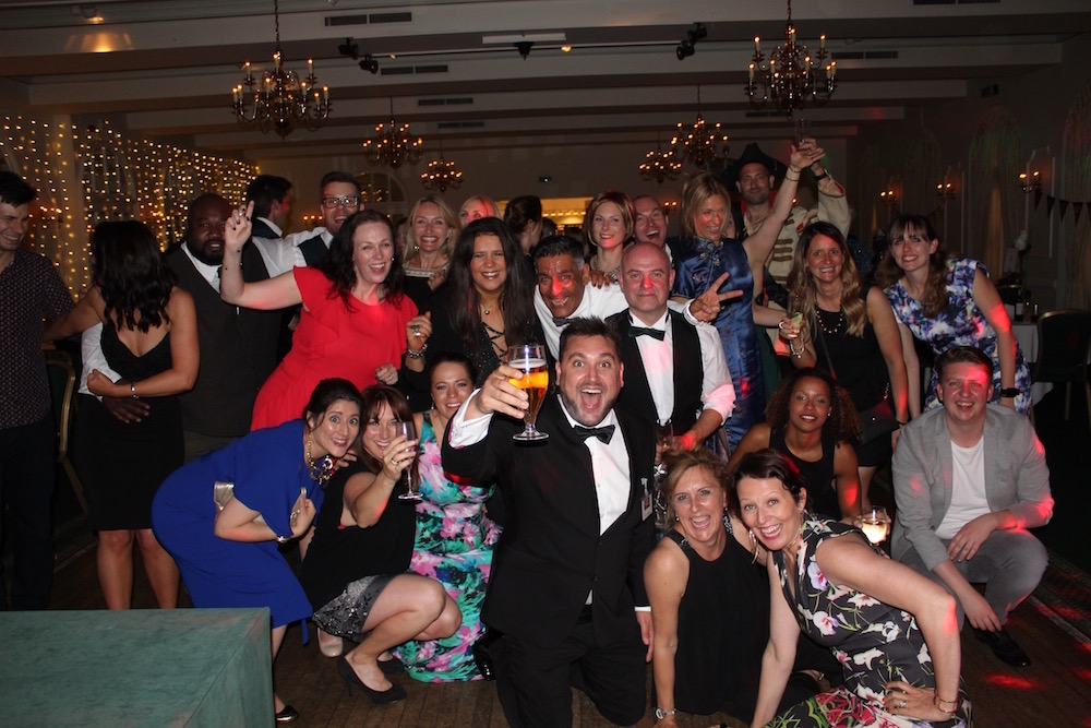 UK commercial voiceover artists party