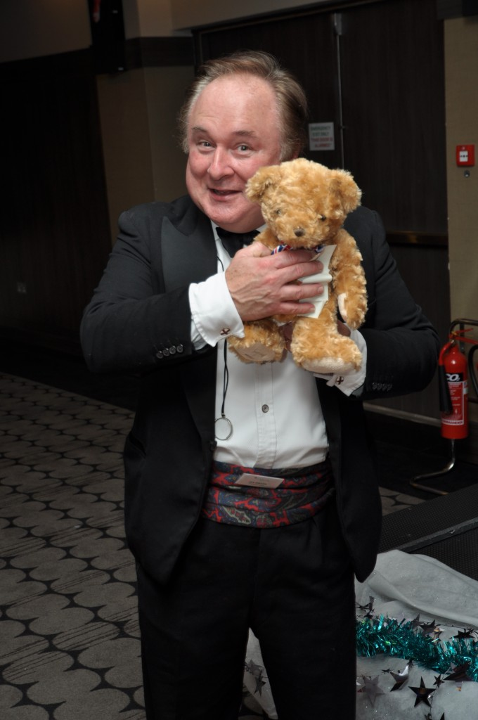 professional voice over actor with teddy at the VOX awards ceremony