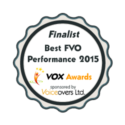 VOX best female voiceover awards finalist 2015