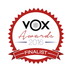 VOX voice over awards finalist award 2016